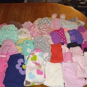 46 pieces of new born clothes